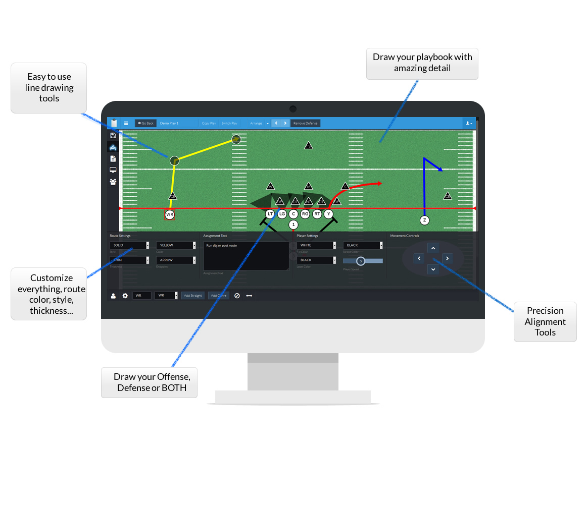 Football Playbook Designer Create And Draw Your Own Football Plays